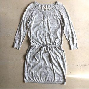 Lou & Grey cotton heather knit sweatshirt dress, S